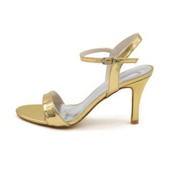 Ladies High Heels Sandals - GOLDEN 36