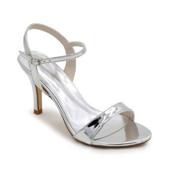 Ladies High Heels Sandals - SILVER SILVER