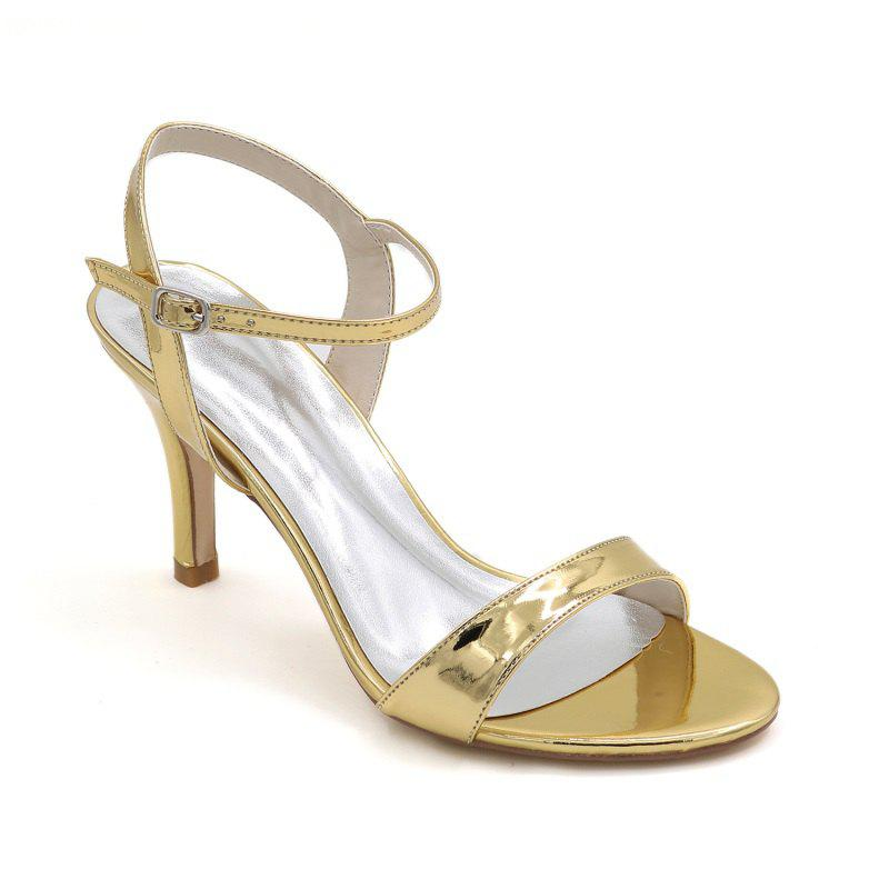Ladies High Heels Sandals - GOLDEN 37