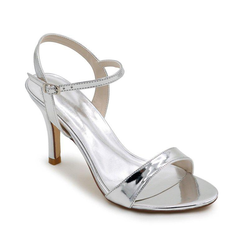Ladies High Heels Sandals - SILVER 38