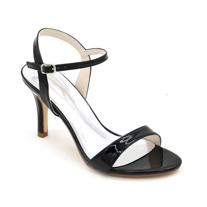Ladies High Heels Sandals - BLACK 35
