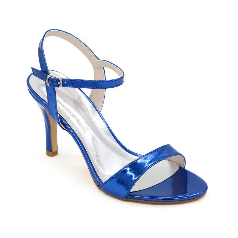 Ladies High Heels Sandals - BLUE 42