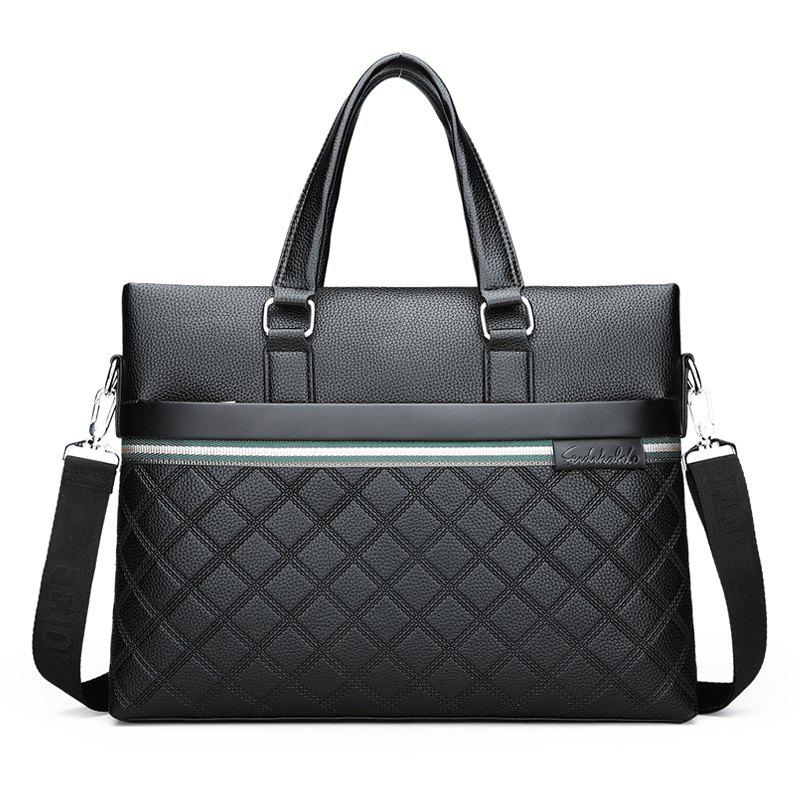 Fashion Business Briefcase Sac à bandoulière sac à bandoulière - Noir