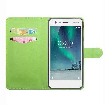 Luxury Flip Stand Clear Phone Case for Nokia 2 Wallet Leather MobiLe Phone Holster Case - WHITE