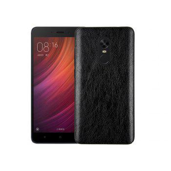 Cover Case for Redmi Note 4X / 4 Following From Crazy Ma Wen Leather Grain + PC - BLACK BLACK