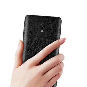 Cover Case for Redmi Note 4X / 4 Following From Crazy Ma Wen Leather Grain + PC - BLACK
