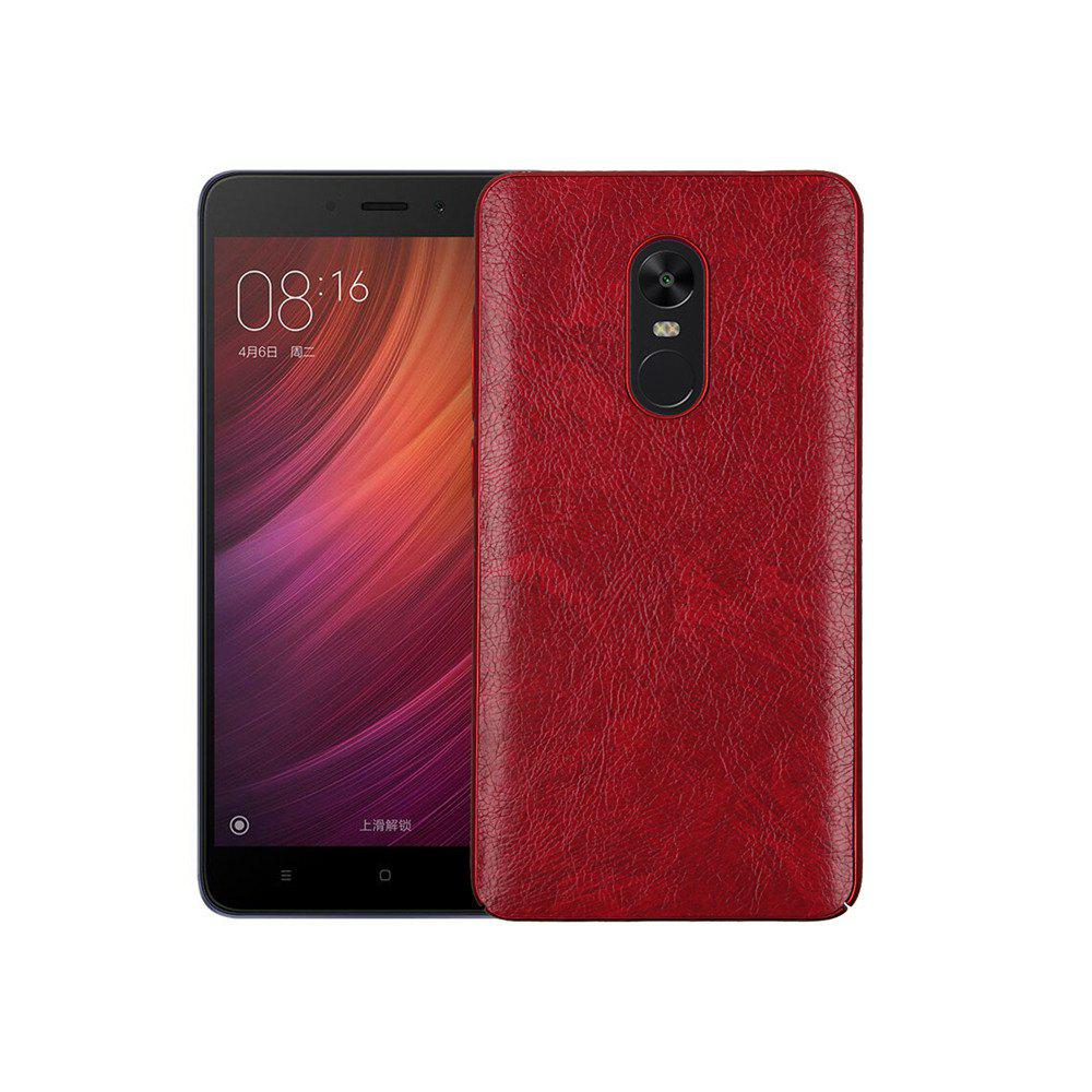 Cover Case for Redmi Note 4X / 4 Following From Crazy Ma Wen Leather Grain + PC - RED