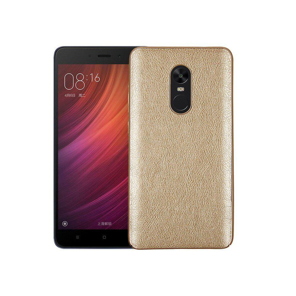 Cover Case for Redmi Note 4X / 4 Following From Crazy Ma Wen Leather Grain + PC - GOLDEN
