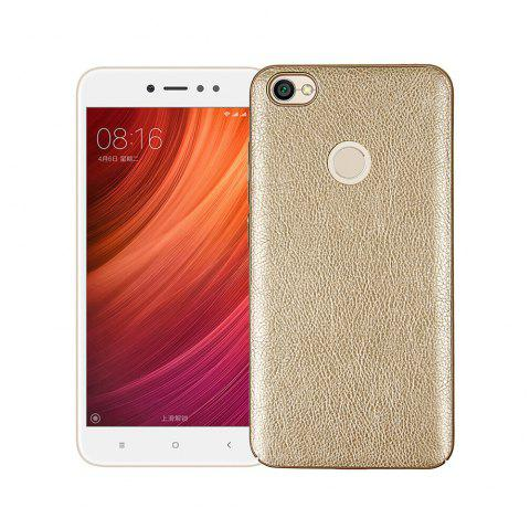 Cover Case for Xiaomi Redmi Note 5A Prime Following From Leather Grain + PC - GOLDEN