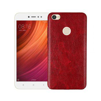 Cover Case for Xiaomi Redmi Note 5A Prime Following From Leather Grain + PC - RED RED