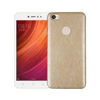 Cover Case for Xiaomi Redmi Note 5A Prime Following From Leather Grain + PC - GOLDEN GOLDEN