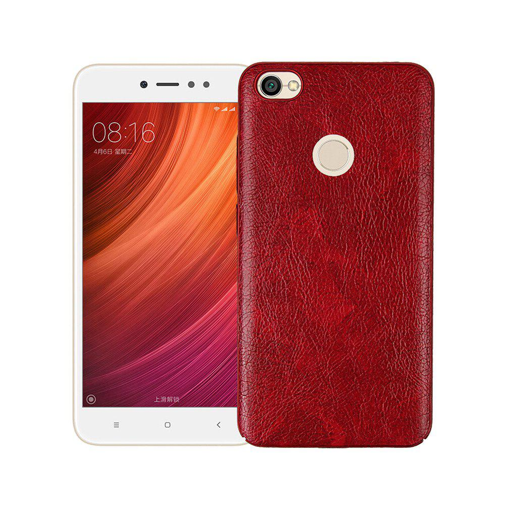 Cover Case for Xiaomi Redmi Note 5A Prime Following From Leather Grain + PC - RED