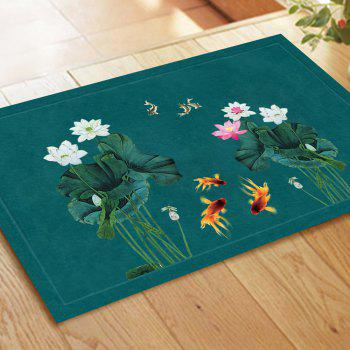 Chinese Style Fish Water and Lotus Pattern Carpet Pads - COLORMIX 40CM*60CM