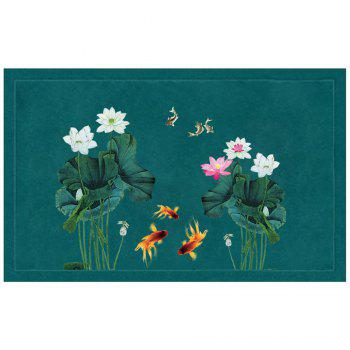 Chinese Style Fish Water and Lotus Pattern Carpet Pads - COLORMIX COLORMIX
