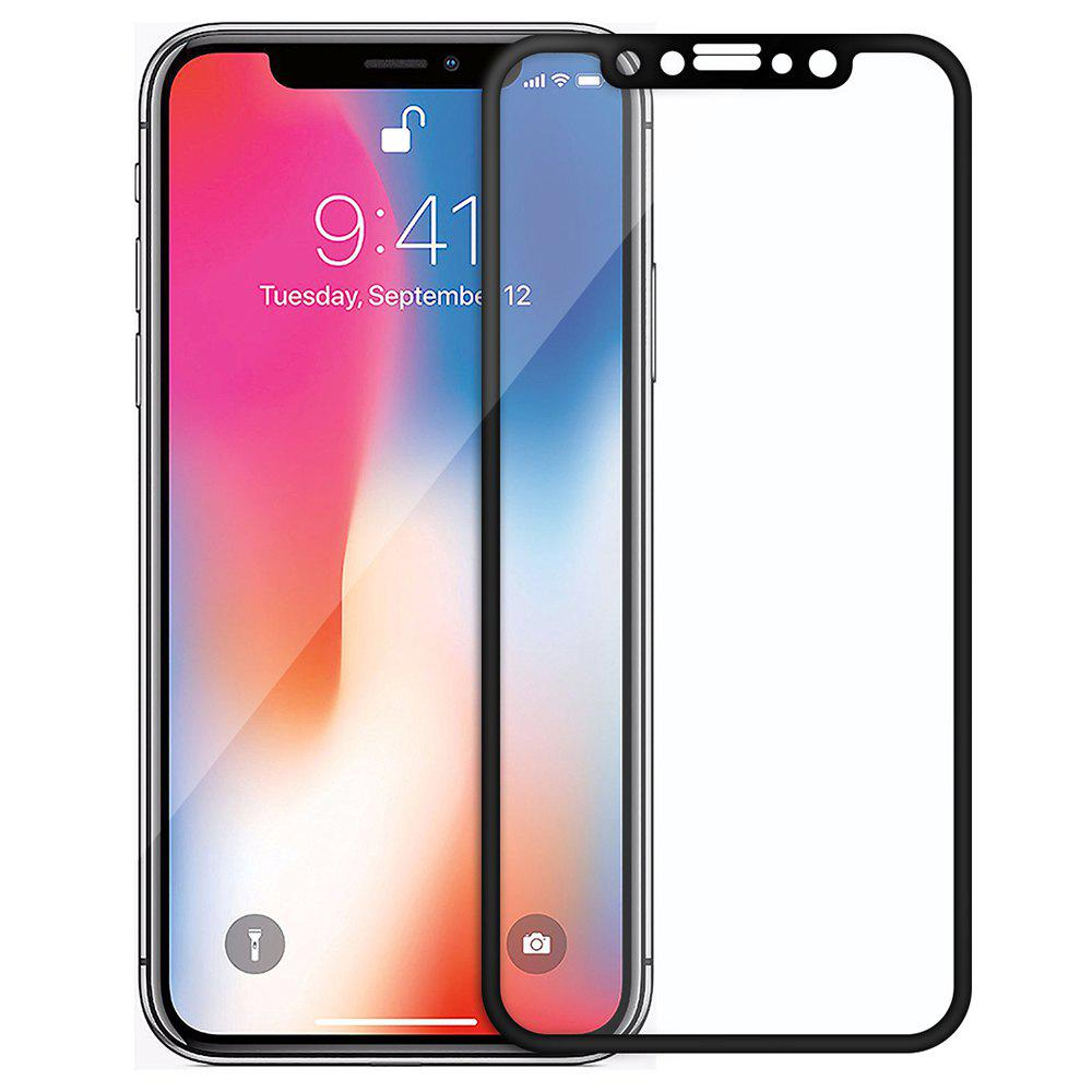 4D All Screen Tempered Glass Screen Protector for iPhone X - BLACK