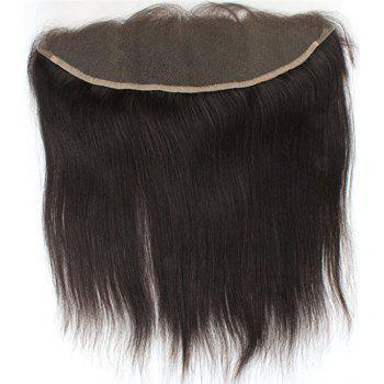 Free Part Human Hair Natural Hairline Straight Lace Frontal - BLACK 14INCH