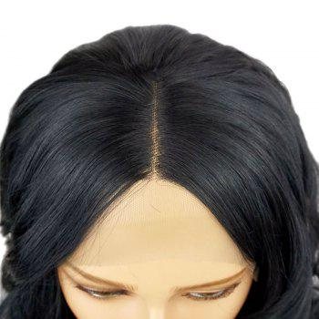 Long Natural Wavy Hair Synthetic Lace Front Wig Heat Resistant for Beauty Woman with Baby Hair - NATURAL BLACK 20INCH