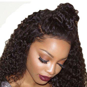 Long Loose Curl Hair Wigs Natural Black Color Synthetic Lace Front Wig with Baby Hair 24 inch 26 inch - NATURAL BLACK 26INCH