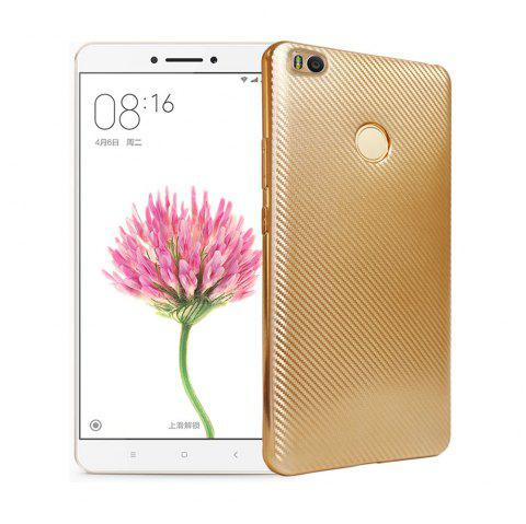 Electroplated Carbon Fiber Case for Xiaomi Max 2 TPU Soft Back Cover - GOLDEN