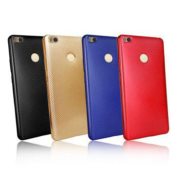 Electroplated Carbon Fiber Case for Xiaomi Max 2 TPU Soft Back Cover - BLACK