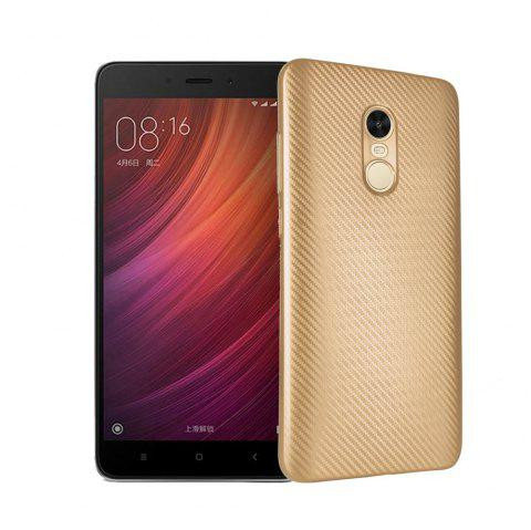 Electroplated Carbon Fiber Case for Xiaomi Redmi Note 4 / 4 Pro TPU Soft Back Cover - GOLDEN
