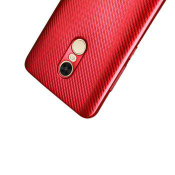 Electroplated Carbon Fiber Case for Xiaomi Redmi Note 4 / 4 Pro TPU Soft Back Cover -  RED