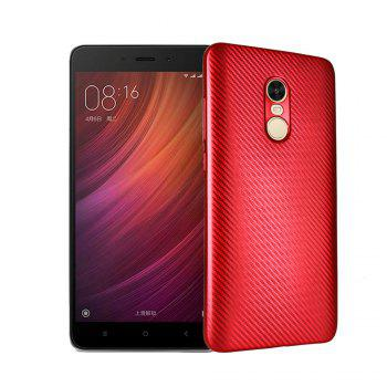 Electroplated Carbon Fiber Case for Xiaomi Redmi Note 4 / 4 Pro TPU Soft Back Cover - RED RED