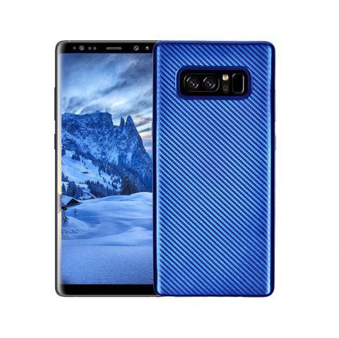 Electroplated Carbon Fiber Case for Samsung Galaxy Note 8 TPU Soft Back Cover - BLUE
