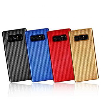 Electroplated Carbon Fiber Case for Samsung Galaxy Note 8 TPU Soft Back Cover - GOLDEN