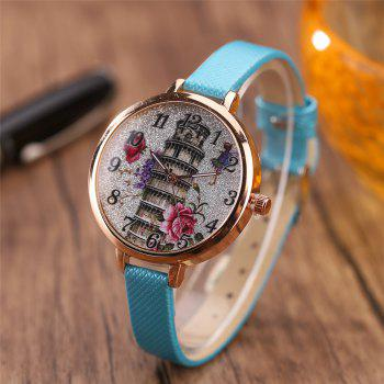 Khorasan The Leaning Tower of Pisa Pattern Personality Quartz Watch -  AZURE