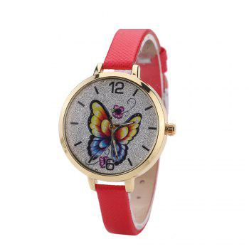 Khorasan Butterfly Ladies Leisure Personality Quartz Watch - RED RED