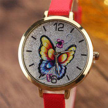 Khorasan Butterfly Ladies Leisure Personality Quartz Watch -  RED