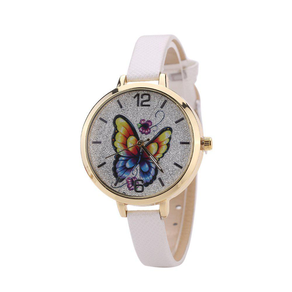 Khorasan Butterfly Ladies Leisure Personality Quartz Watch - WHITE