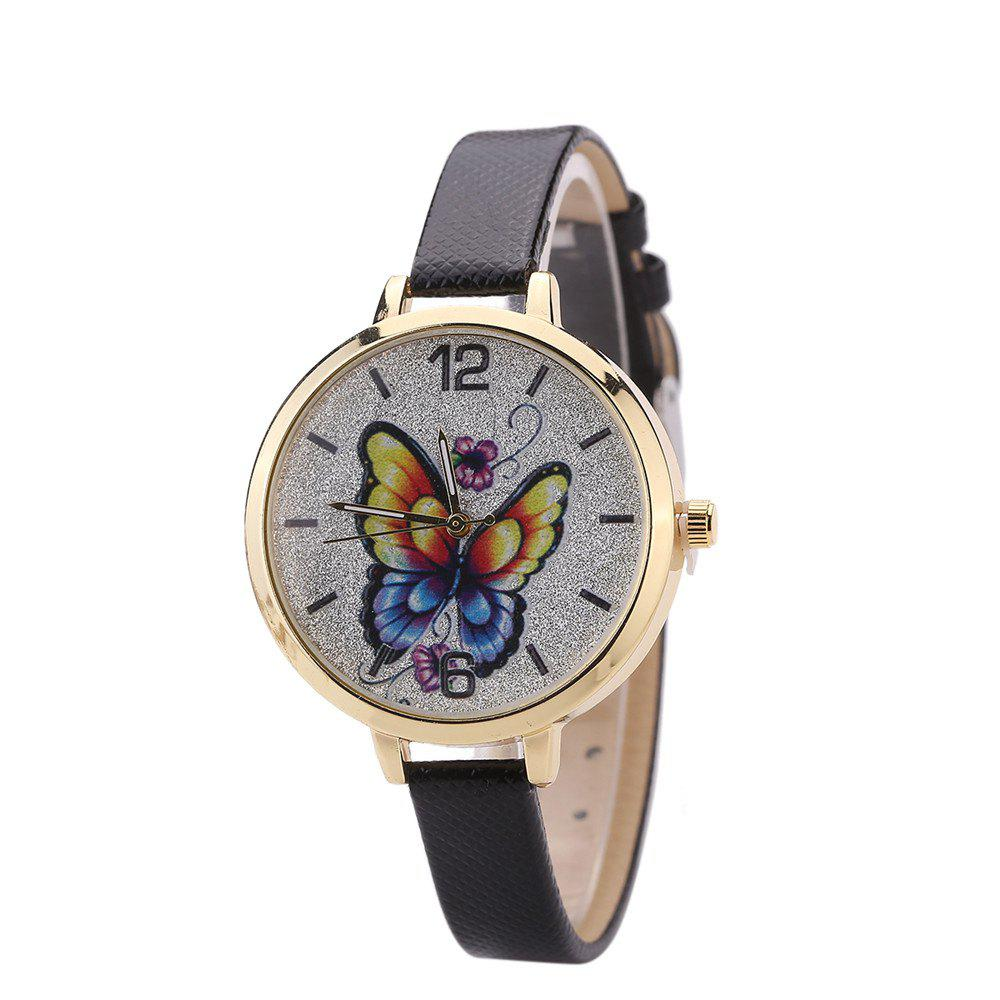 Khorasan Butterfly Ladies Leisure Personality Quartz Watch - BLACK
