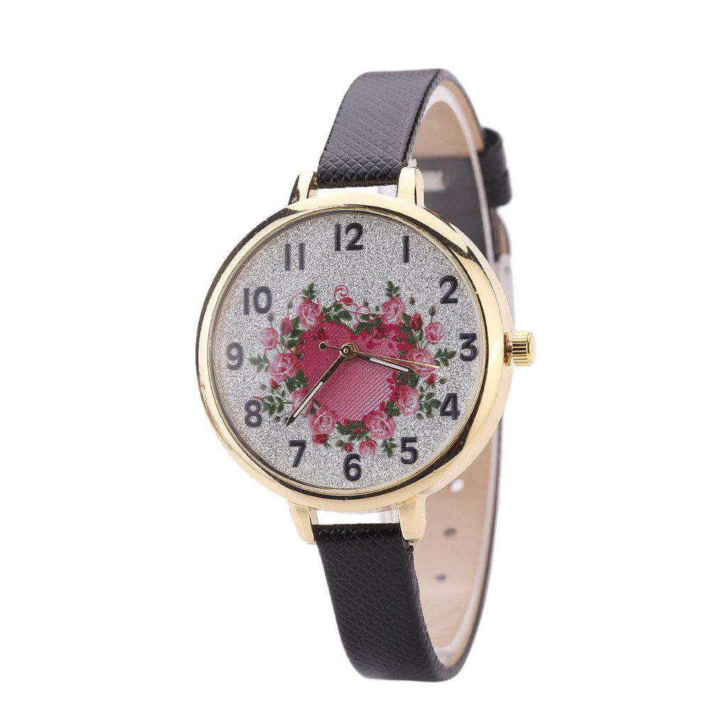 Khorasan The Rose Heart Type Literally Wears A Quartz Watch - BLACK