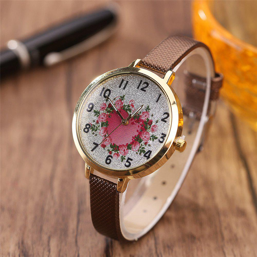 Khorasan The Rose Heart Type Literally Wears A Quartz Watch - BROWN