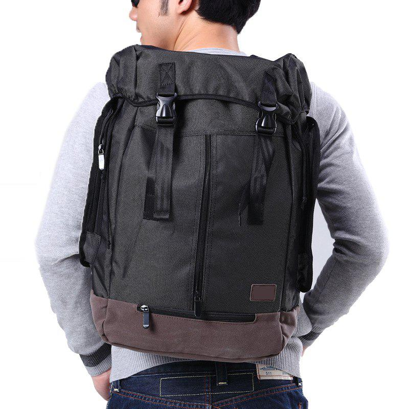 1Pc Student Bag Male Backpacks Fashion Sports - BLACK