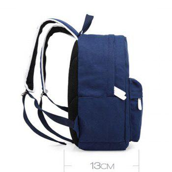 1Pc Canvas Shoulder Backpack Travel Bags Computer Bag -  BLUE