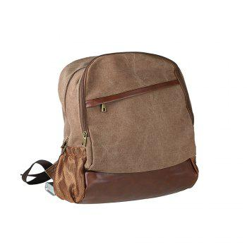 1Pc Canvas Backpack Travel Shoulder Bag School Bags - BROWNIE BROWNIE
