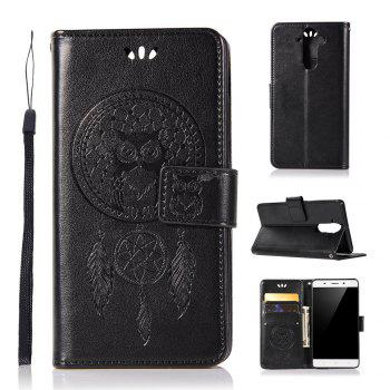 Owl Campanula Fashion Wallet Cover For Nokia 9 Case PU luxury Retro Flip Leather Case Phone Bag With Stand - BLACK BLACK