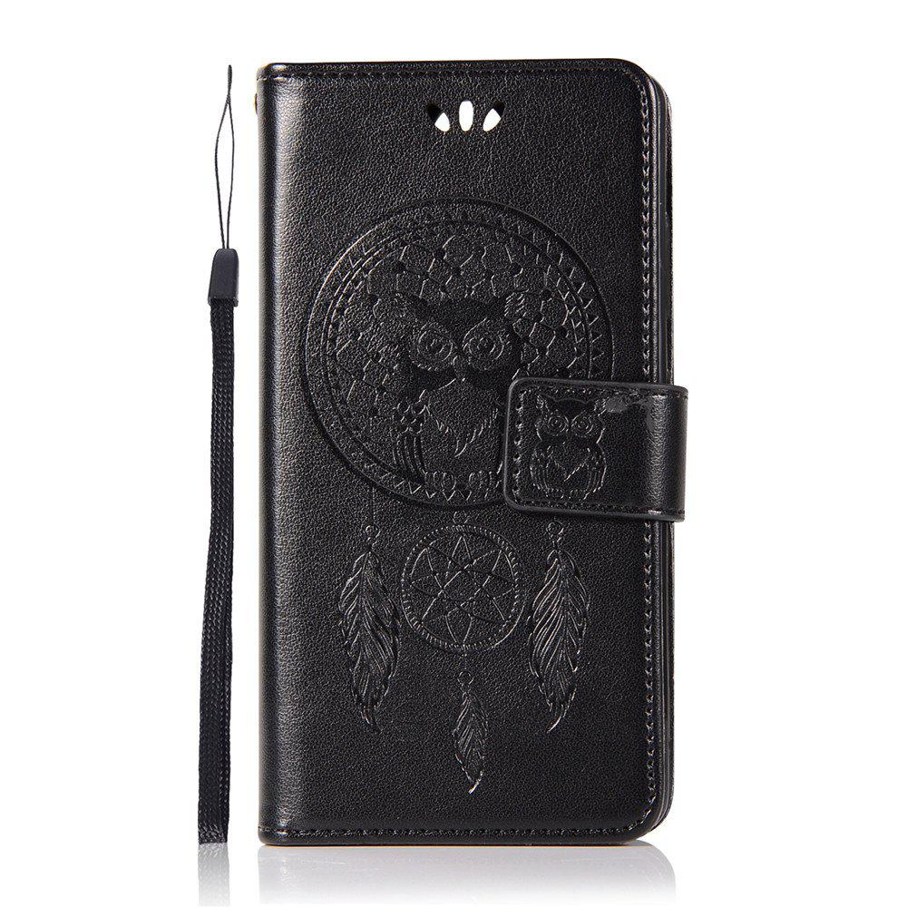 Owl Campanula Fashion Wallet Cover For Nokia 9 Case PU luxury Retro Flip Leather Case Phone Bag With Stand - BLACK