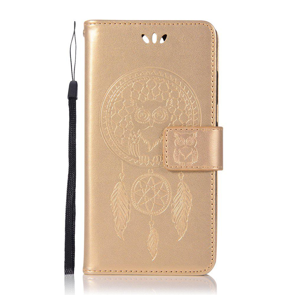 Owl Campanula Fashion Wallet Cover For Nokia 9 Case PU luxury Retro Flip Leather Case Phone Bag With Stand - GOLDEN