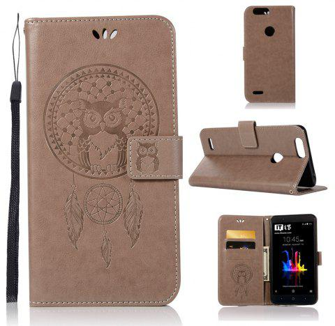 Owl Campanula Fashion Wallet Cover For ZTE Z982 / Z Max Case PU luxury  Vintage Flip Leather Case Phone Bag With Stand