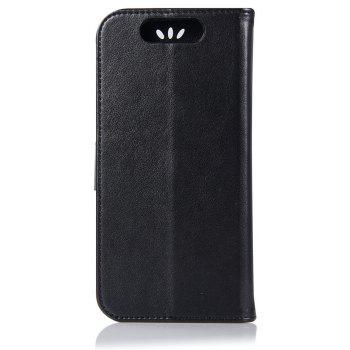 Owl Campanula Fashion Wallet Cover For ZTE Blade V8 Case PU luxury Retro Flip Leather Case Phone Bag With Stand - BLACK