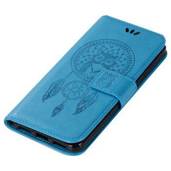 Owl Campanula Fashion Wallet Cover For ZTE Blade V8 Case PU luxury Retro Flip Leather Case Phone Bag With Stand - BLUE