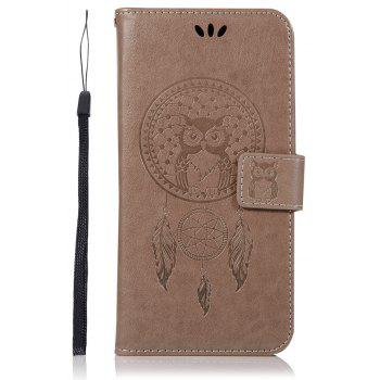 Owl Campanula Fashion Wallet Cover For HTC U11 Case 5.5 Inch PU luxury Retro Flip Leather Case Phone Bag With Stand - GRAY