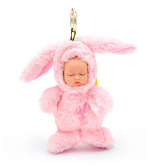 New Long-haired Rabbit Stuffed with Plush Toys - PINK