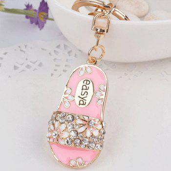 Creative Slippers Alloy Keys Keychain Girl Pendant Ornaments Small Gifts - PINK