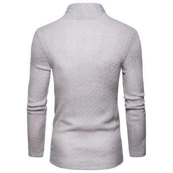 The New Spring Fashion Men Polo Shawl Knitted Cardigan Sweater - LIGHT GRAY 2XL