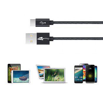 3pcs USB Type-C Cable Charger Royal Flag USB Cables USB A to USB C Sync  Charging Cable - BLACK